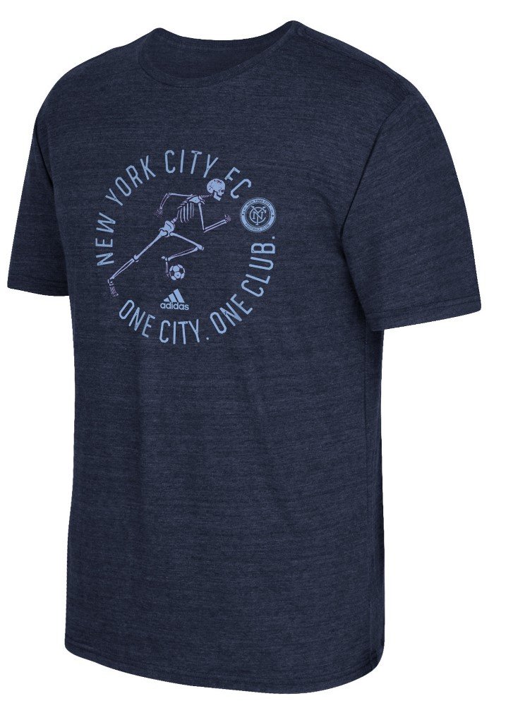 "New York City FC Adidas MLS ""To The Grave"" Tri-Blend Men's Short Sleeve T-Shirt"