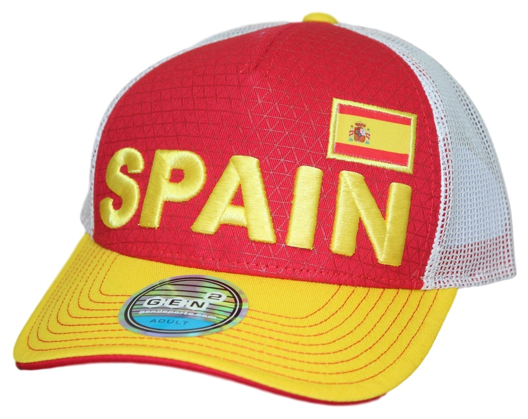 "Team Spain World Cup Soccer Federation ""Jersey Hook"" Structured Mesh Back Hat"