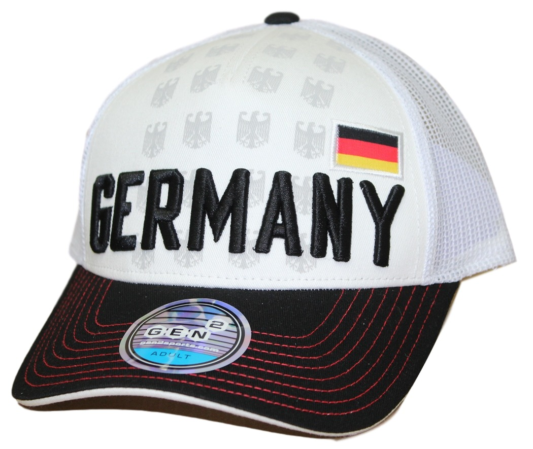 "Team Germany World Cup Soccer Federation ""Jersey Hook"" Structured Mesh Back Hat"