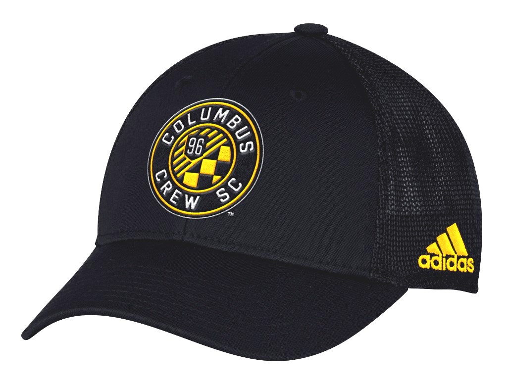 "Columbus Crew Adidas MLS ""Corner Kick"" Structured Flex Mesh Back Hat"