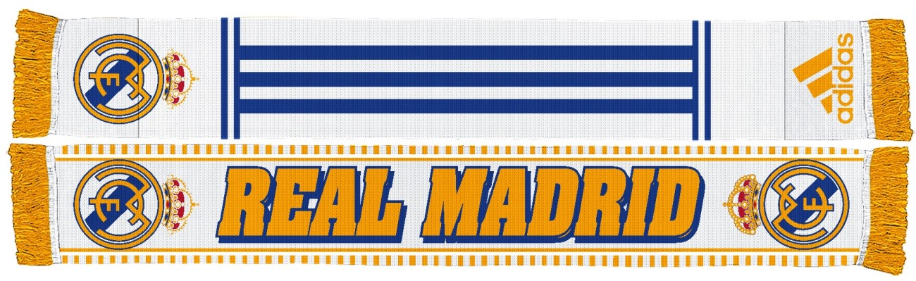 Real Madrid Soccer Futbol Adidas Authentic S387 Jacquard Team Scarf
