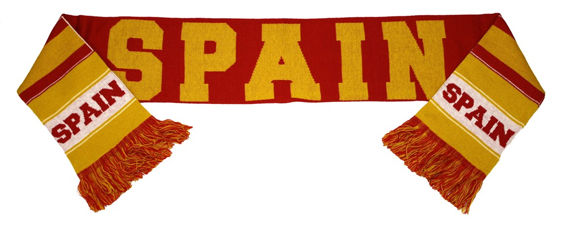 Spain Espana World Cup Soccer Authentic Country Wordmark Scarf