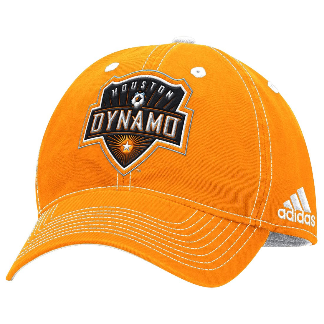 "Houston Dynamo Adidas MLS ""Team Performance"" Structured Adjustable Hat"