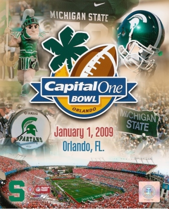 Michigan State Spartans 2009 Capital One Bowl 8x10