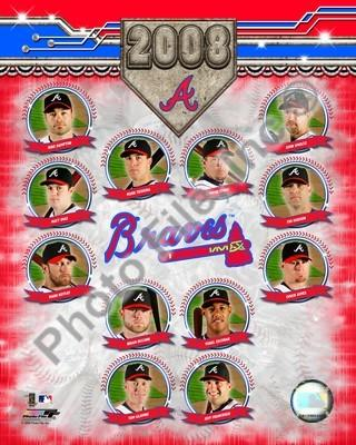 Atlanta Braves 2008 Team Composite 8x10