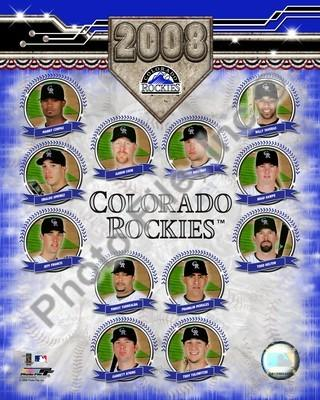 Colorado Rockies 2008 Team Composite 8x10
