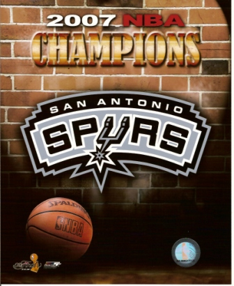San Antonio Spurs 2007 NBA Champions 8x10 Photo