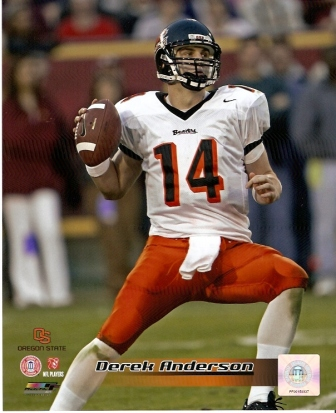 Derek Anderson Oregon State 8x10 Photo