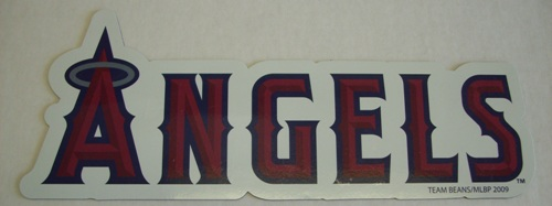Los Angeles Angels Team Name MLB Car Magnet