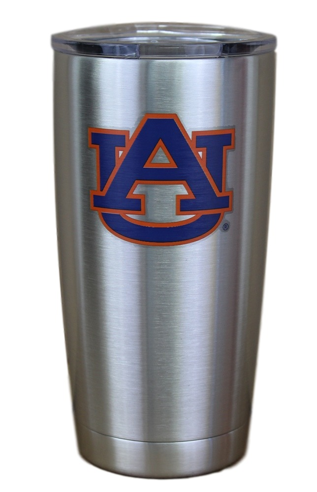Auburn Tigers NCAA Stainless Steel Insulated 20oz Tumbler - Silver