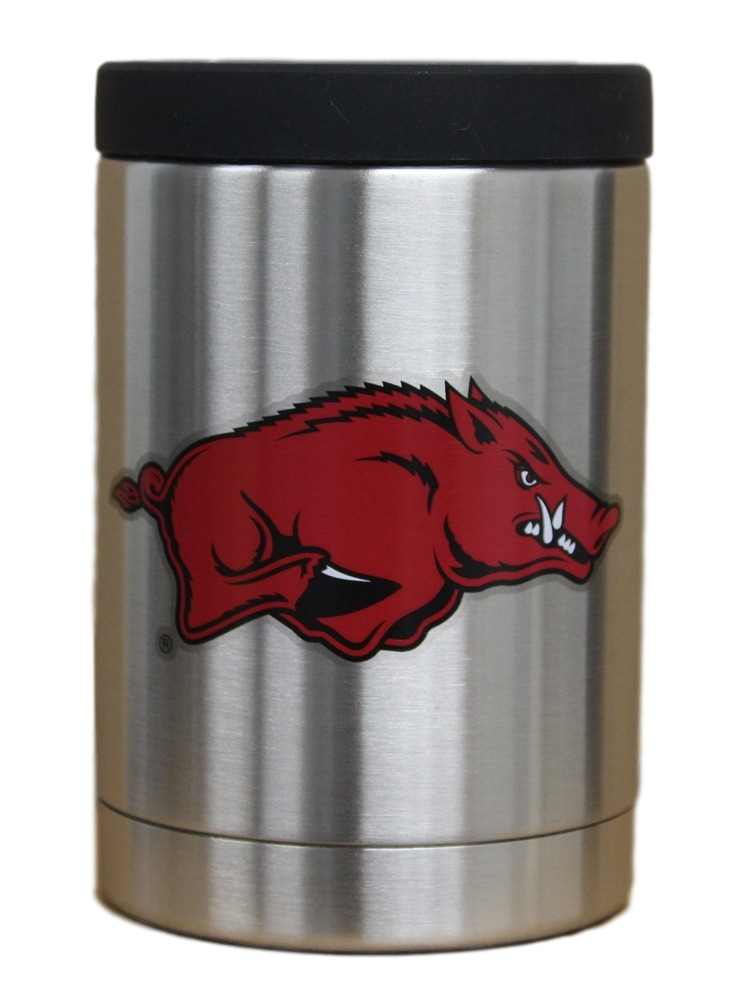 Arkansas Razorbacks NCAA Stainless Steel Insulated 12oz Jacket with Seal