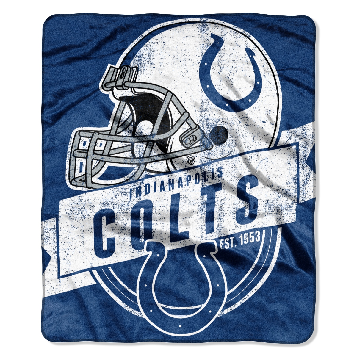"Indianapolis Colts NFL ""Grand Stand"" 50""x60"" Raschel Throw Plush Blanket"