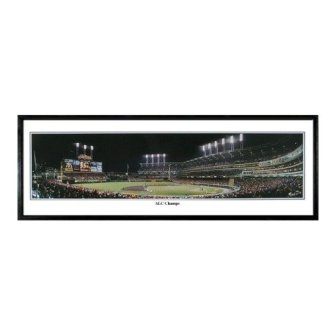 "1997 AL Champs Indians 9.5x27"" Panoramic Photo"