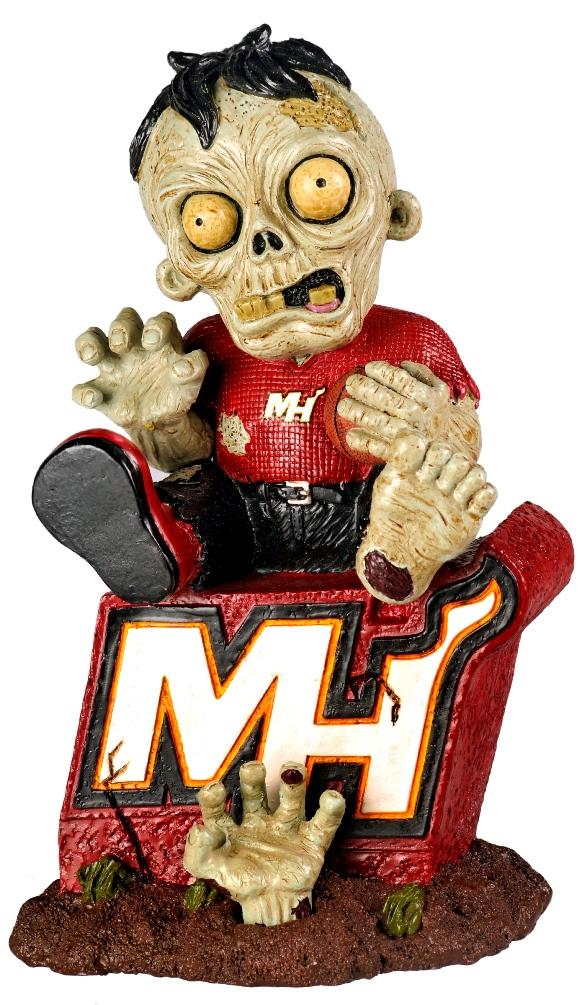 Miami Heat NBA Zombie On Team Logo Figurine