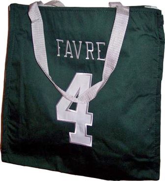 Brett Favre Jets NFL Canvas Tote Bag