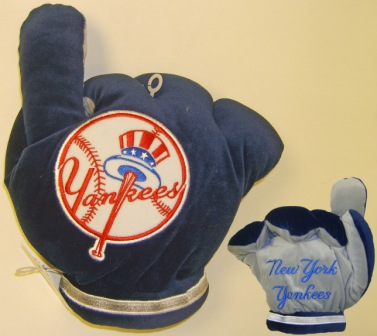 New York Yankees Officially Licensed Plush Fan Finger